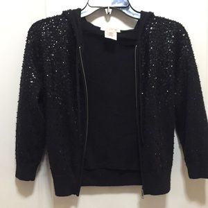LAROK sequined cropped sweater